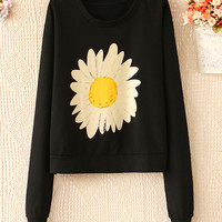 CUTE SHORT ROUND NECK LONG SLEEVE T-SHIRT