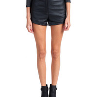 High Waisted Leather Shorts | 2020AVE