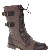 Brown Force Combat Boot | Hot Topic