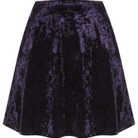 Blue Crush Velvet Skater Skirt - New In This Week  - New In