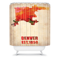 DENY Designs Home Accessories | Naxart Denver Watercolor Map Shower Curtain