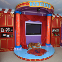 Circus Extravaganza Playroom and Mural