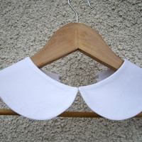 Peter Pan Detachable white collar, hand made from fine cotton fabric