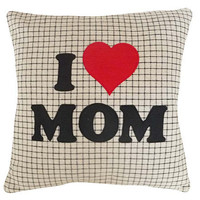 I Love Mom Pillow Talk Text Message for Mom by PillowThrowDecor