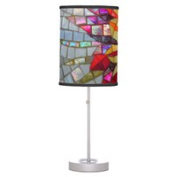 Floral Mosaic , photography, detail shiny mosaic Table Lamp