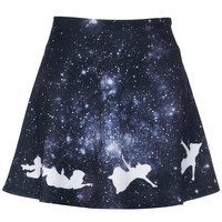 ROMWE | Angel Print Galaxy Skirt, The Latest Street Fashion