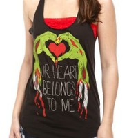 Zombie Heart Girls Tank Top Plus Size 3XL