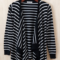 Less is More Open Front Cardi, Black (Pre-Order)