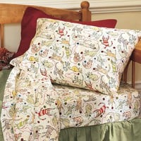 Cats And Yarn Flannel Sheets - Plow & Hearth