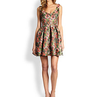 ABS - Floral Fit-And-Flare Dress