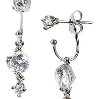 BetseyJohnson.com - JET SET CRYSTAL DROP EARRING CRYSTAL