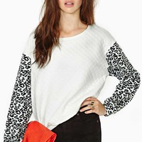 Wild Light Quilted Sweatshirt