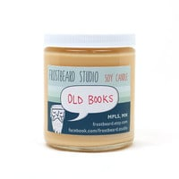 Old Books -- Book Lovers' Scented Soy Candle              -- 8oz jar