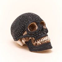 Large Black Beaded Skull