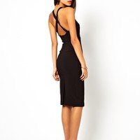 Vesper Midi Pencil Dress With Cross Back