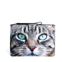 New Look Maddy Cat Zip Top Clutch Bag