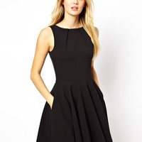 Closet Fit and Flare Skater Dress