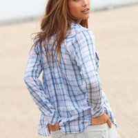 Rails Kendra button down shirt in blue/ivory