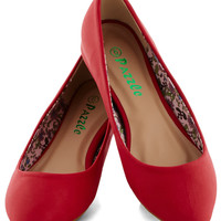 Reel Simple Flat in Red | Mod Retro Vintage Flats | ModCloth.com