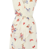 Oasis All Dresses | Multi Natural Butterfly Print Silk Dress | Womens Fashion Clothing | Oasis Stores UK