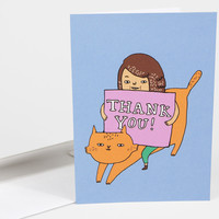 Cat Thank You Card