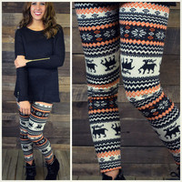 Hallows Eve Fleece Winter Print Sweater Leggings