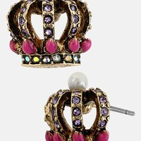 Betsey Johnson 'Imperial' Crown Stud Earrings | Nordstrom