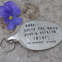 Sorry Baby Spoon Key Chain FREE SHIPPING by jjevensen on Etsy