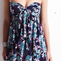 Day Dress - Midnight Florals Dress | UsTrendy