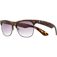 Brown tortoise shell retro sunglasses - sunglasses - sale - men