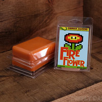 Super Mario Bros FIRE FLOWER Cinnamon Scented Gamer Soap Cheap Stocking Stuffers by DeeplyDapper