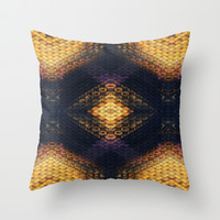 Black & Gold Diamond Throw Pillow by Ally Coxon
