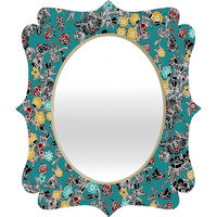 DENY Designs Home Accessories | Sharon Turner Cloisonne Flowers Quatrefoil Mirror