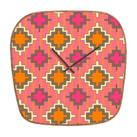 DENY Designs Home Accessories | Sharon Turner Tangerine Kilim Modern Clock