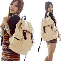 Leather-like Material Backpack/ Schoolbag 