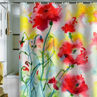 DENY Designs Home Accessories | Ginette Fine Art If Poppies Could Only Speak Shower Curtain