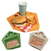 DCI Eco Tray, Assorted Green and Orange Colors
