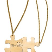 Friendship Puzzle Necklace Set