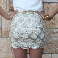 PRE ORDER - THE TRITON SKIRT(Expected Delivery 25th October, 2013) , DRESSES, TOPS, BOTTOMS, JACKETS & JUMPERS, ACCESSORIES, SALE, PRE ORDER, NEW ARRIVALS, PLAYSUIT, COLOUR,,Sequin,Gold Australia, Queensland, Brisbane