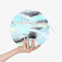 Poketo Painterly Sphere Leather Clutch