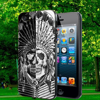 indian sugar skull black and white on iphone 5s case, iphone 5c case, iphone 4s case, and samsung s3, samsung s4 cases tocoolcases