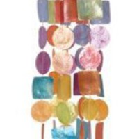 Multi Color Windchime Wind Chime Large Shells