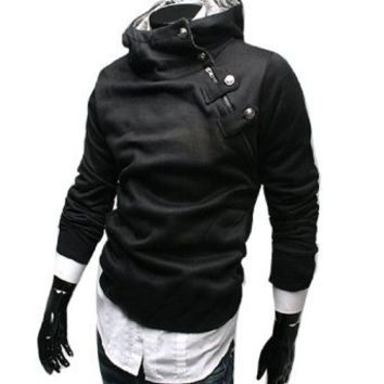 Stylish Korea Mens Top Designed Hoodie Jacket Coat Sweatshirt