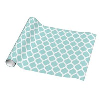 Tiffany Blue & White Moroccan Pattern Gift Wrap