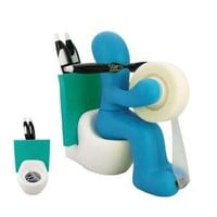 Amazon.com: CSB Commodities The Butt Station Desk Accessory Holder, Blue: Home & Kitchen