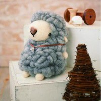 DIY handmade Large Felt Wool Gray Sheep kit by MeMeCraftwork