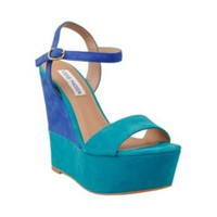WIMZIKUL TEAL MULTI women's dress high wedge - Steve Madden