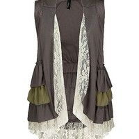 BKE Boutique Ruffle Vest - Women's Shirts/Tops | Buckle