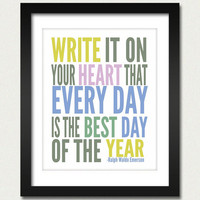 Inspirational Quotes / Write it on your Heart by happylandings