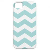 Blue Chevron Case Savvy iPhone 5 Case